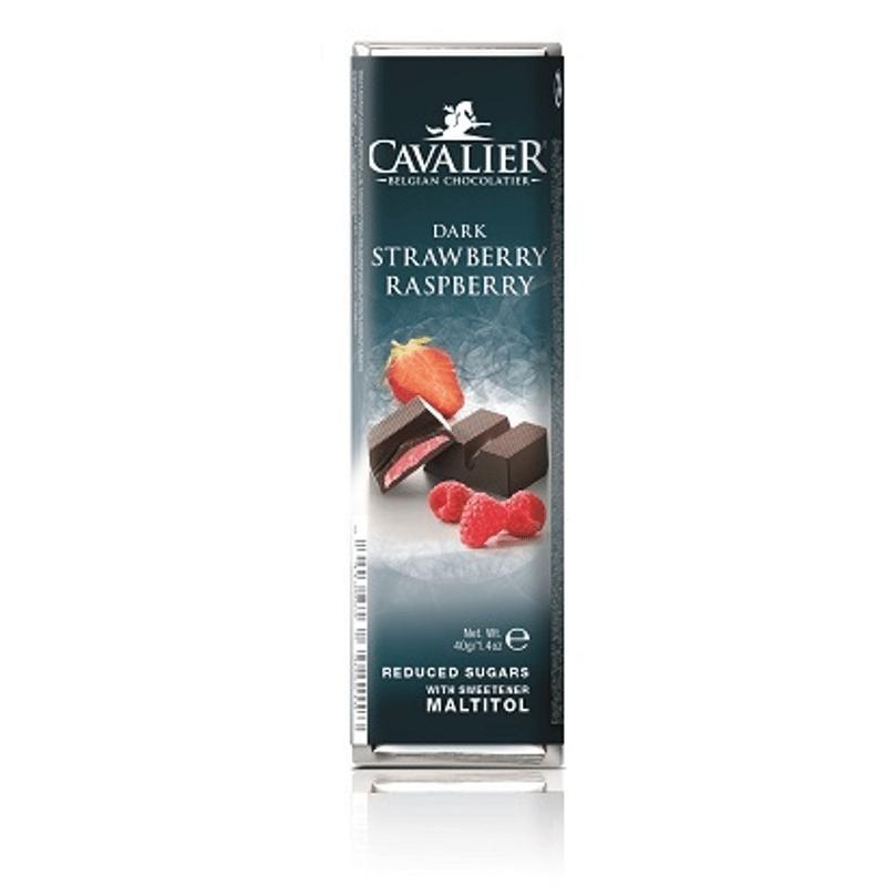 Cavalier zuckerfreier Erdbeer Himbeer Riegel