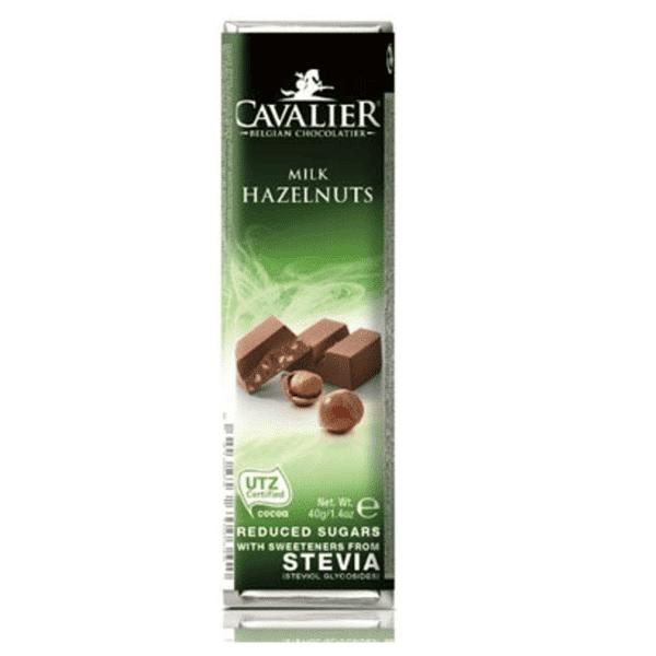 Cavalier zuckerfreier Milch Haselnuss Riegel