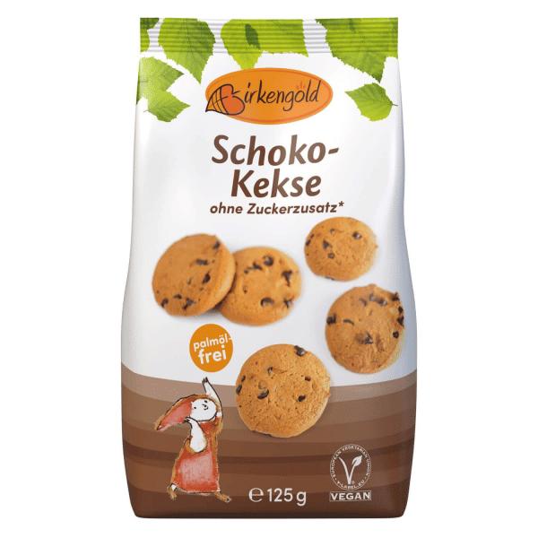 Birkengold zuckerfreie Schoko Kekse Birkenzucker