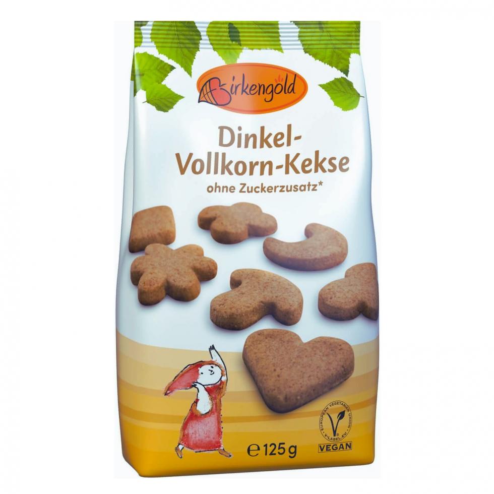 Birkengold Birkenzucker zuckerfreie Vollkorn Dinkel Keks vegan