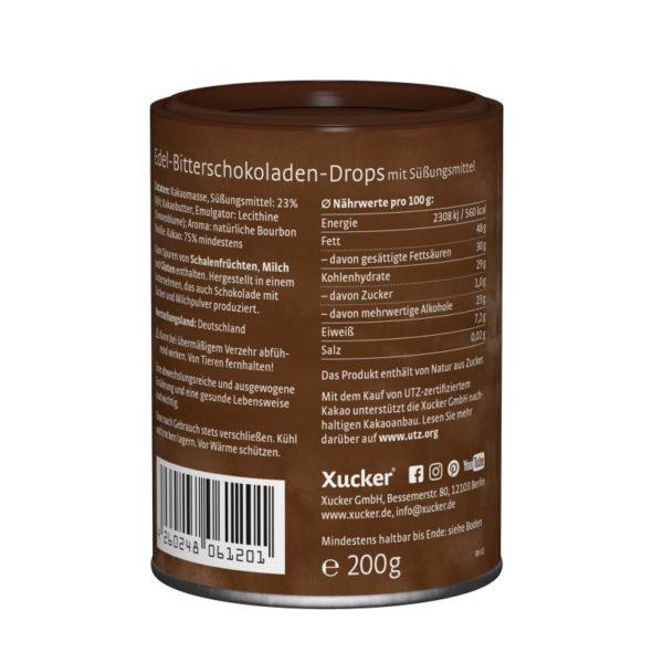 Xucker Schokodrops Edelbitter zuckerfrei