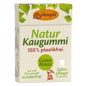 Birkengold Kaugummi Grüne Minze