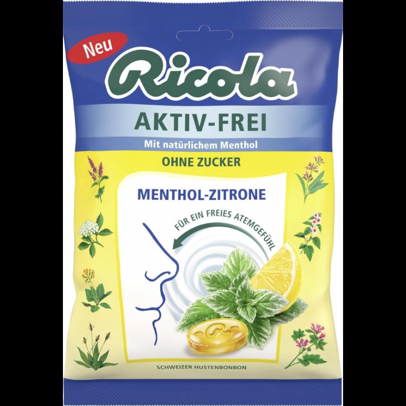 Ricola Aktiv Frei Menthol Zitrone zuckerfrei