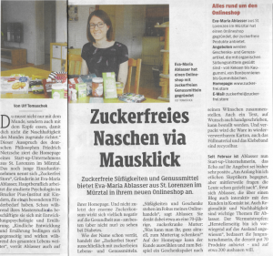 Unternehmensvorstellung Zuckerfrei Store Kleine Zeitung