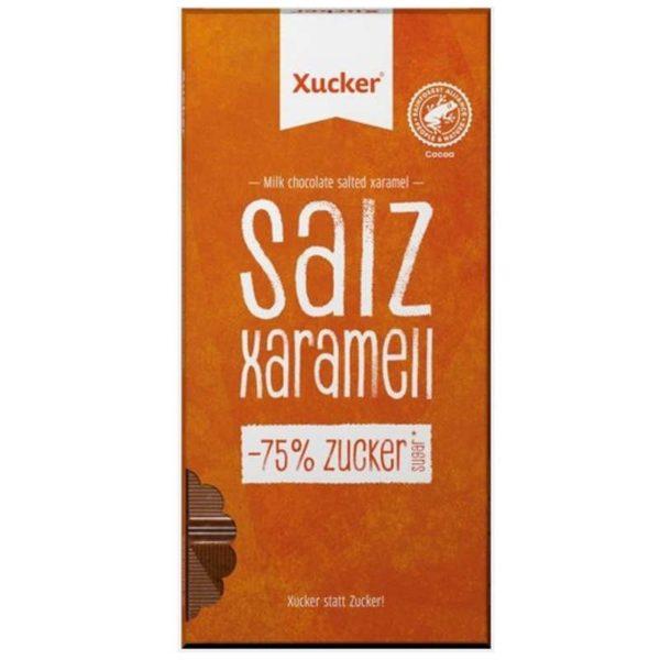 Xucker zuckerfreie Salz Xaramellschokolade