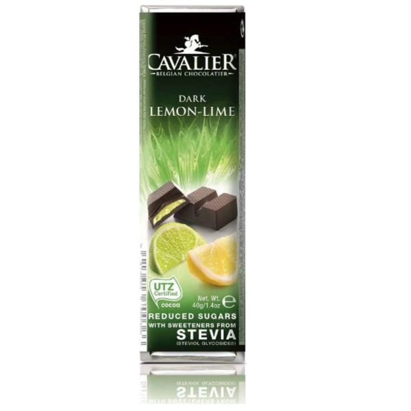 Cavalier zuckerfreier Zartbitter Limone Riegel Stevia