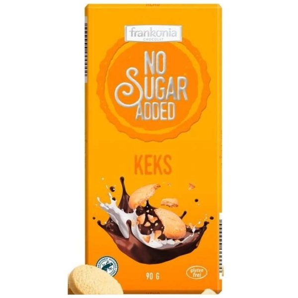 Frankonia zuckerfreie Schokolade mit Keks