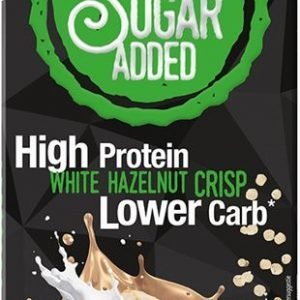 Zuckerfreie Protein Schokolade Frankonia White Hazelnut Crisp