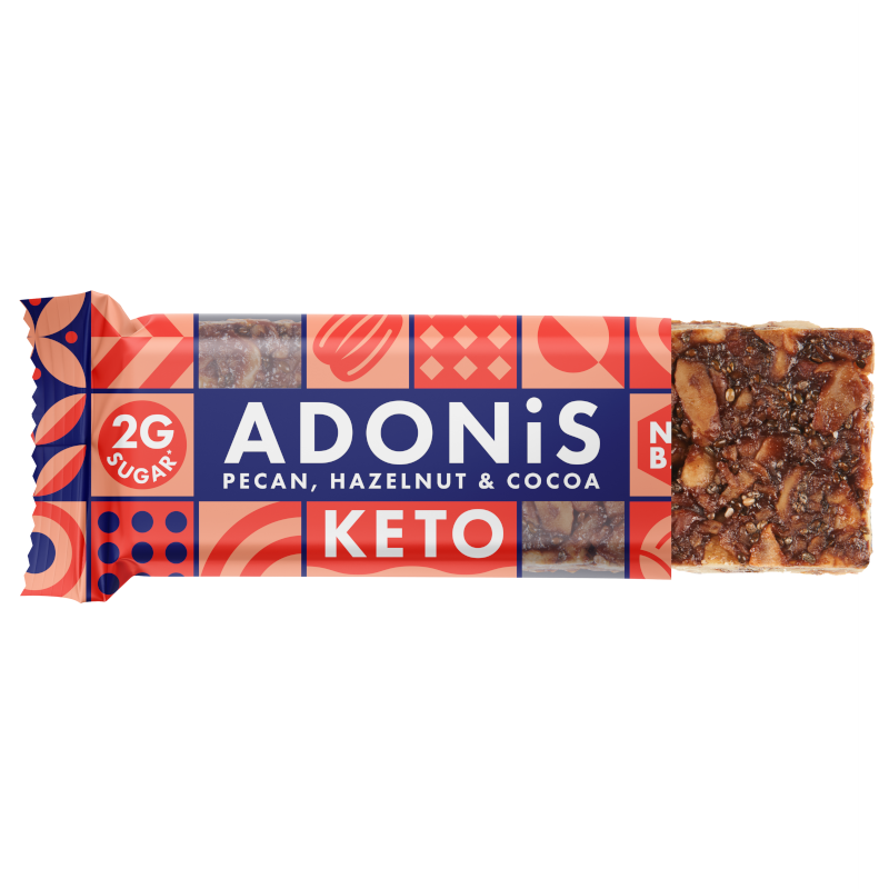 zuckerfreier Riegel Adonis Pecan_Cocoa_Bar